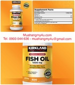 Fish Oil 1000mg. 400 Softgels