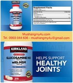Kirkland Signatures Glucosamine with MSM, 375 Tablets