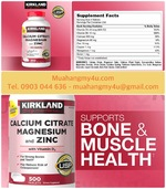 Kirkland Signatures Calcium Citrate 500 mg, 500 Tablets