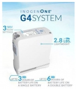 Inogen One G4 Portable Oxygen Concentrator with DOUBLE BATTERY